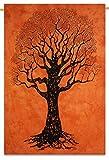 Baum des Lebens indischen Hängen Baumwolle Wandteppiche Picknick Twin-Größe-Dekor-Wurf 84 X 56 Zoll