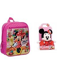 Preisvergleich für Disney: Pack Rucksack Minnie Craft Room 28 cm + Plüsch Minnie I Love Minnie 25cm