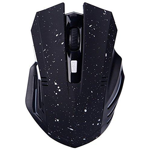 Bluetooth Silent Wiederaufladbare Gaming Mouse - Tsmine Geräuschlos und leise Klicken Sie auf Wireless Gaming & Office Laptop Tablet Ergonomische Mäuse mit 6 Tasten, 3 einstellbare DPI - Schneewittchen Logitech Bluetooth-auto-adapter