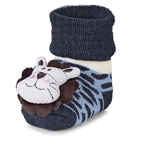Sterntaler Baby Jungen Socken Rasselsöckchen Löwe Blau (Marine 300), 16