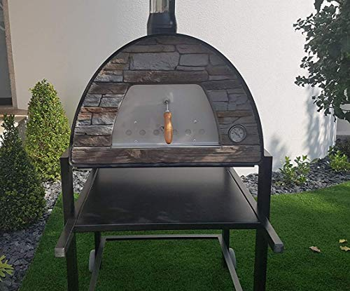Maximus Black Arena (Rustic Stone Effect) Wood-Fired Bread, Meat, Pizza Fish Outdoor Oven REAL WOOD REAL FLAVOR Escape The Indoors � STAND NOT INCLUDED