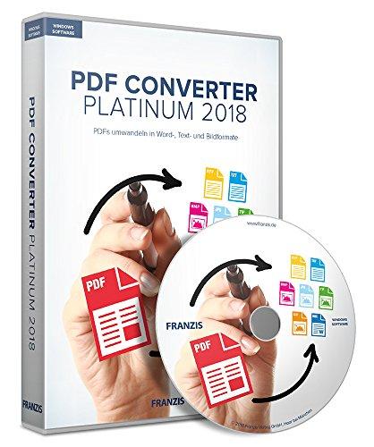 FRANZIS PDF Converter Platinum 2018|2018|Für bis zu 3 Geräte|zeitlich unbegrenzt|Für Windows 10/8.1/8/7|Disc|Disc