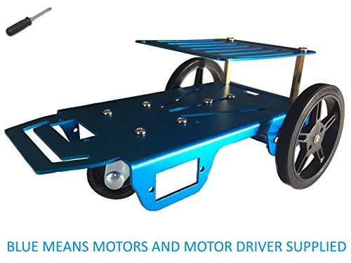 Feetech-FT-MC-002-SMC-Blue-Aluminum-Robot-Vehicle-Chassis-with-FT-SMC-2CH-DC-motor-drive-board-for-Arduino-Servo-Library