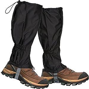 5108cfO6ilL. SS300  - Lictin 1 Pair Hiking Gaiters Leg Gaiters SnowGaiters Mountain Snow Legging Gaiters LightweightHikingGaiters Waterproof Windproof Durable Gaiters Outdoor Walking Climbing Legging Gaiter