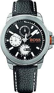 BOSS ORANGE Montre avec bracelet New York Multi à quartz analogique cuir 1513155