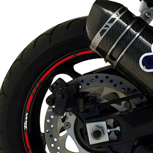 Yamaha T-MAX 500 '08-'11/530 '12-'19 Cinta roja (Reflectante) - Logos Blancos