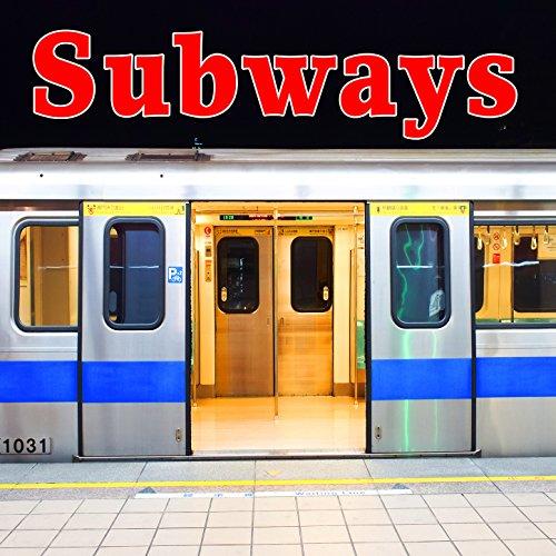 New York City Subway Shuttle Train on Board: Start, Run & Stop with Heavy Transfer Door Movement