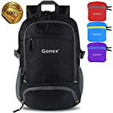 Gonex Lightweight Packable Backpack Hiking Daypack Upgraded Version 30L Travelling Backpack Hiking Cycling School Air Travelling Carry on Backpacking for Men and Women