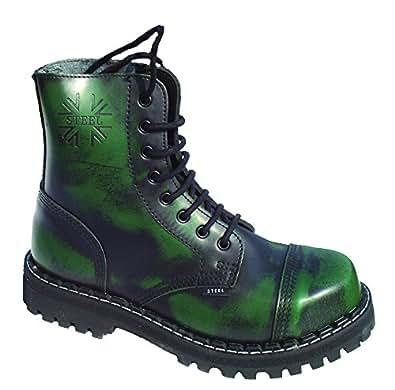 Nix-Gut 8 Loch Boots Grün Rub Off, Grösse 47