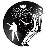 EVEVO Michael Jackson Wanduhr Vinyl Schallplatte Retro-Uhr Handgefertigt Vintage-Geschenk Style Raum Home Dekorationen Tolles Geschenk Wanduhr Michael Jackson