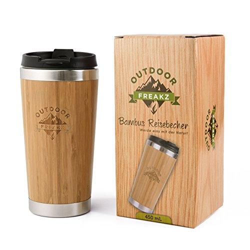 OUTDOOR FREAKZ Thermobecher aus Bambus und Edelstahl  ein Naturprodukt!