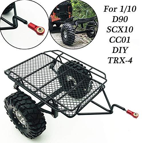 Wokee Pkw Crawler Anhänger Flachplane Traktoranhänger,Modell Auto Auto Winch Metall Haken Set für 1/10 Axial SCX10 TRX4 KM2