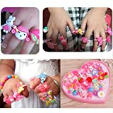 #10: Quvom cute cartoon finger rings for girls gifting 36 pcs box