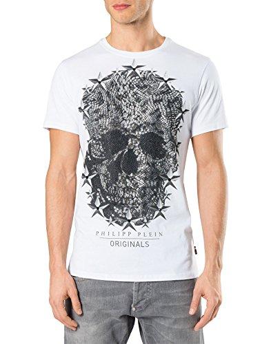 Philipp plein lincon mtk0278 maglietta bianco white uomo