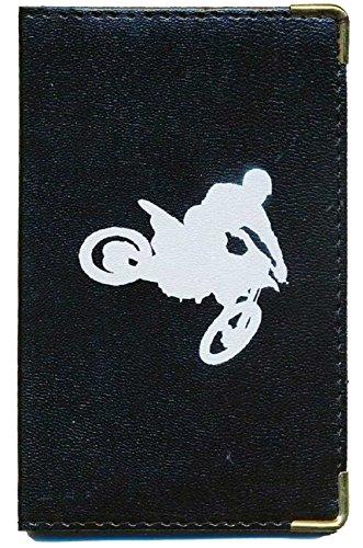 Tasca Custodia Protezione Porta Scheda grigia–Carte auto–Patente di guida, Moto Cross (Nero) - cg-motocross