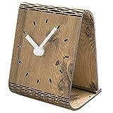Cikuso Reloj de Mesa de Madera Creativo Reloj de Escritorio de La Decoración del Dormitorio del Dise?o Moderno para Estudiante Oficina Reloj de Escritorio Decoración de Casa