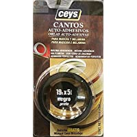 Ceys 850102 - Rollo 5M. Canto De Melamina Negro 850102