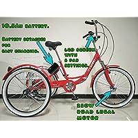 Tricycle pour adultes pliant électrique, roues de 24 po, dérailleur Shimano 6 vitesses, moteur 250 W, différentes couleurs