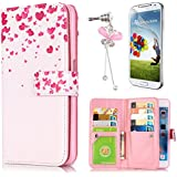 Etui Housse Coque Samsung Galaxy J5 SM-J500F (2015 Version), Sunroyal® Premium PU Cuir Livre Style Case Cover avec Portefeuille Porte Credit Carte Protection Bumper Portable Skin Motif Amour Heart Love