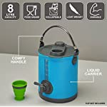 Colapz 2-in-1 Collapsible Water Container - Camping Water Carrier - Campervan bucket - Water Dispenser with Tap - Green 4