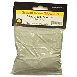 JTT Scenery Products Ballast and Gravel, Light Gray, Fine/200gm