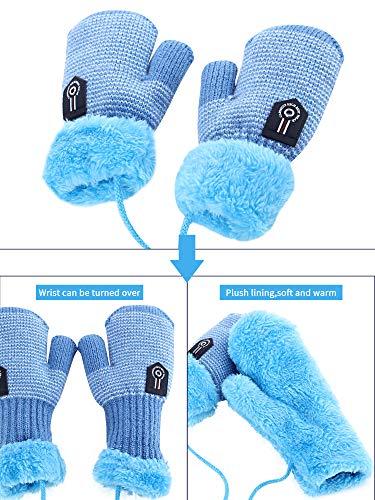 Zhanmai 2 Pezzi Sciarpe di Maglia Invernale per Bambini Calda Sciarpa Calda Scaldacollo per Bambini Ragazzi