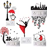 Gifts Collection™ Multicolor Switch Board Sticker Standard Size Switch Sticker Set of 6