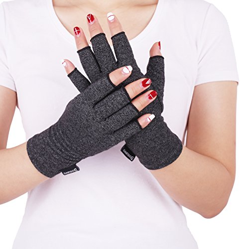Anti-handschuh (Anti-Arthritis Kompressions Handschuh Mann Frauen für bieten Wärme und üben Druck aus um die Blutzirkulation zu erhöhen, Schmerz zu reduzieren und die Heilung zu fördern, Rheumatoid von DISUPPO (Medium(2.6-3.15