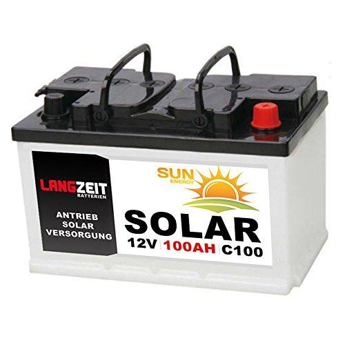 LANGZEIT 100Ah 12V Solarbatterie Boot Marine Wohnmobil Solar Batterie 80Ah