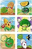 #9: Akrobo wooden Jigsaw puzzle for kids, Vegitable Theme ( 16 Piece per puzzle, 6 Puzzle )