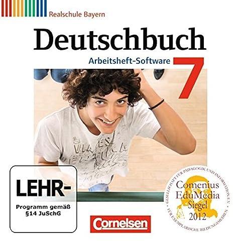 Deutschbuch 7. Jahrgangsstufe. Übungs-CD-ROM zum Arbeitsheft. Realschule Bayern
