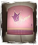 Lampe Kinder Wandlampe Schlummerlampe Nachtlicht mit Schalter personalisiert mit Namen Krone Prinzessin Prinz