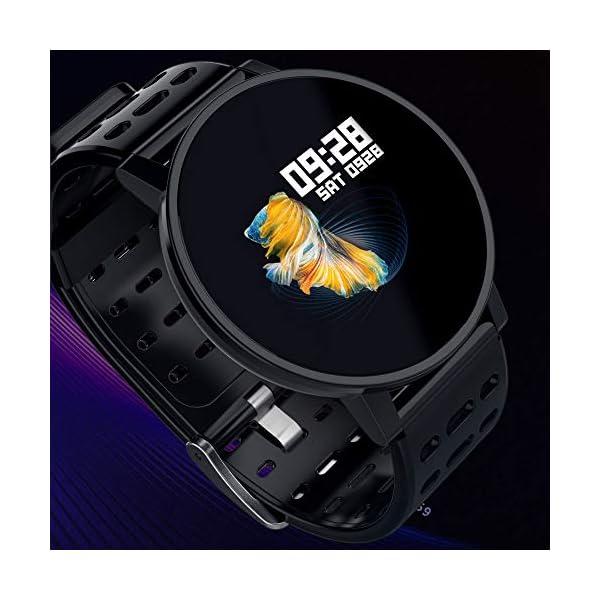 TOOGOO T3 Smart Watch Ip67 Impermeable Smartwatch Presión Arterial Monitor de Ritmo Cardíaco Rastreador de Ejercicios Hombres Wearable Pulsera Inteligente (Negro) 6