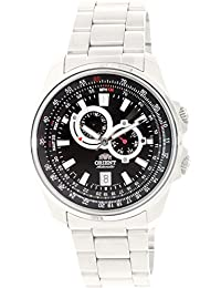 Orient Hombre Deportivo et0q003b Reloj Automático de Acero Inoxidable Plateado