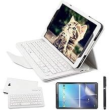 REAL-EAGLE Galaxy Tab A 10.1 Teclado Funda(QWERTY), Funda de Cuero