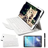 REAL-EAGLE Coque Galaxy Tab A 10.1 QWERTY Clavier Bluetooth Étui Housse, sans Fil...