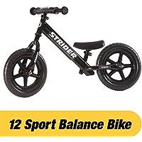 Strider - Bicicleta sin pedales Strider 12 Sport, para niños de 18 meses a 5 años, negra