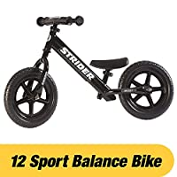 Strider 12 Sport No-Pedal Balance Bike (Black)