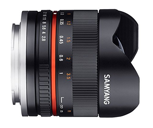 Samyang 8mm f2.8II Lens for connection on Amazon
