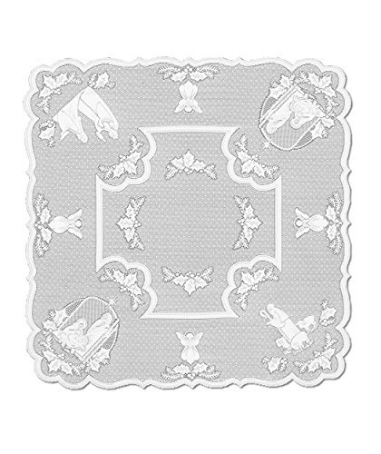 Heritage Lace Silent Night 45-Inch by 45-Inch White Table Topper by Heritage Lace (Topper Table White)