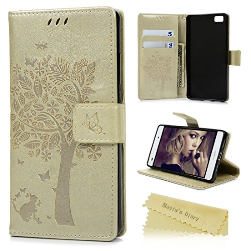 huawei-p8-lite-funda-libro-de-suave-pu-leather-cuero-impresion-maviss-diary-carcasa-con-flip-case-co