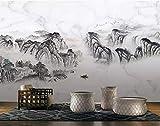 HONGYUANZHANG Einfache Linie Bergspitze Benutzerdefinierte 3D-Foto-Tapete Künstlerische Landschaft Tv-Hintergrundbild,24Inch (H) X 32Inch (W)