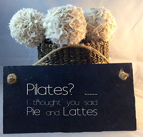 Lustiges Pilates Zitat Schild Pie and Lattes Pilates Plaketten und Schilder Geschenk für Sie