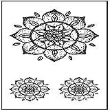 Handaxian Pies 5pcs Etiqueta engomada del Tatuaje de Lotus Mujer Hombre muñeca del girocompás del Tatuaje 5pcs T 20