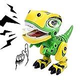 Remoking Dinosaurier Spielzeug,Roboter Dinosaurier Elektronisches Spielzeug,Tier Spielzeug Dino Dekoration,Building Spielzeug Dinosaurier mit Licht und Sound,Spielzeug Geschenk für Kinder ab 3
