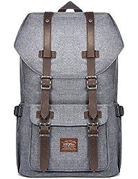 Mochila Unisex de la escuela del ordenador portátil KAUKKO Paquete de ocio de moda para excursiones al aire libre viajes camping