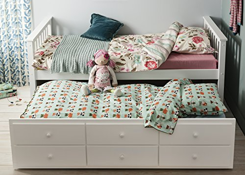 Day Bed Loki Single Bed with Pull out Drawers and Trundle Underbed Noa & Nani