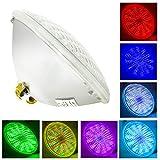 LED Lámpara para Piscinas AC 12V,Par56 Led Piscina Iluminacion,IP68 Impermeable Con Mando a Distancia para Swimming Pool Fuente Sumergible (Par56 54W-RGB)