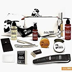 ✮ BARBER TOOLS ✮ Kit à barbe + kit de rasage + Tondeuse à barbe + Cosmetiques MADE IN FRANCE