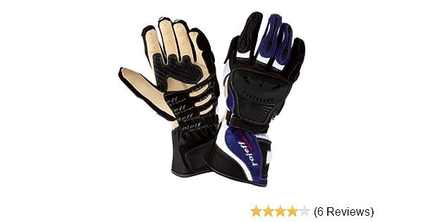 Roleff Racewear Lederhandschuhe Schwarz Blau Größe Xxl Auto